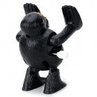 Cute Gorilla Style Winding Somersault Toy - Black + Yellow Brown