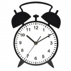 YKL003 Creative Alarm Clock Style Wall Clock - Black + White (1 x AA)