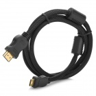 HDMI Male to Mini HDMI Male Gold-plated HD Cable - Black (120cm)