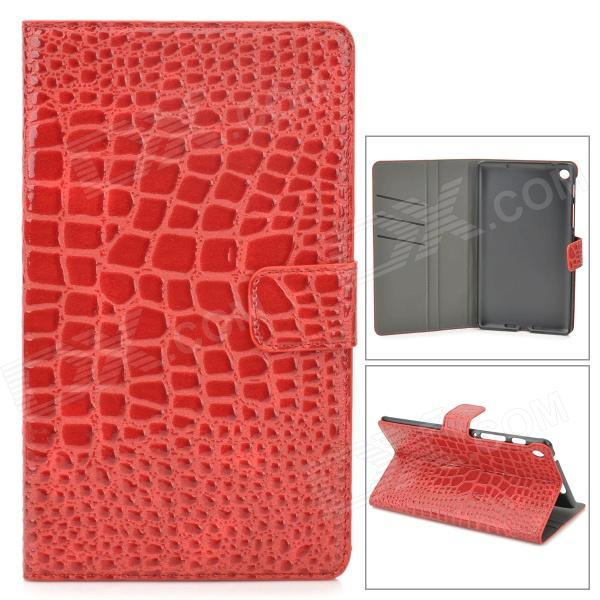 Crocodile Grain Style Protective PU Leather Case for Google Nexus 7 II - Red