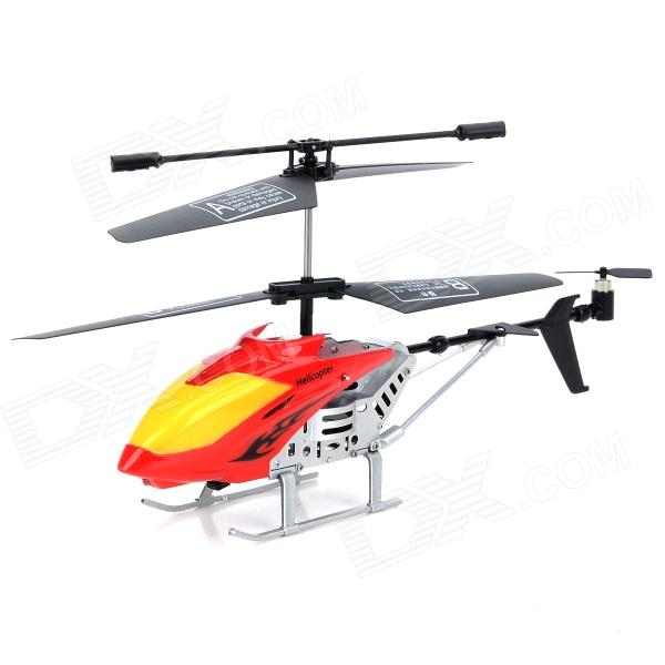 B-168 Rechargeable 3.5-CH Gyro R/C Helicopter w/ Controller - Black + Red