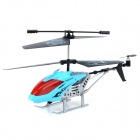 B-168 Rechargeable 3.5-CH Gyro R/C Helicopter w/ Controller - Black + Blue