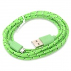 USB 2.0 to Micro USB Data/Charging Woven Cable for Samsung Galaxy Tab 3 P5200 / P5210 - Green (2M)