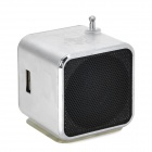 "3W Mini USB 1.45"" Screen MP3 Speaker w/ TF / FM / Mini USB / 3.5mm - Silver"