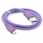 USB 2.0 to Micro USB Data/Charging Woven Cable for Google Nexus 7 / Nexus 7 II - Purple (100CM)