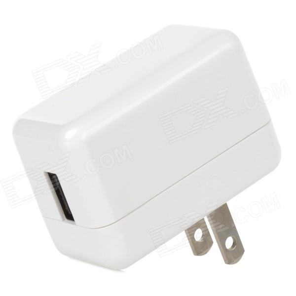 BL-003 AC lading adapter lader for iPhone / iPad / iPod - Hvit (2-Flat-Pin Plug)