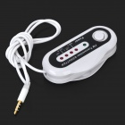 Car Wireless FM Transmitter for iPhone + iPod + iPad - White