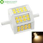 SENCART R7S  4.5W 300LM 3300K Warm White 24-LED 5060SMD Lamp - White Silver (85~265V)