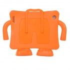 20055 Cute Robot Shaped Convenient EVA Case Stand Holder for Ipad 2 / 3 / 4 - Orange