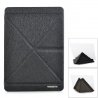 PHOENIXFEIYA Cool Folding PU Cover Plastic Case w/ Holder + Auto Sleep for IPAD AIR - Black