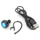 Bluetooth V3.0+EDR In-Ear Headphone w/ Mic for IPHONE / IPAD - Black
