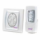 Convenient Household 4-way Wireless Remote Control Switch - White + Silver