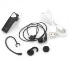 CHEERS H5 Stereo Bluetooth V4.0 Ear-hook Earphone w/ Microphone - Black + Silver