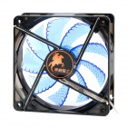 Aigo X7 9-Blade Fan Cooling Gear w/ Blue LED Light - Black + Blue