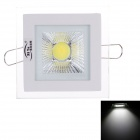 ZiYu ZY-M110-001 5W 480lm 6500K LED White Light Square Ceiling Lamp - White (AC 100~265V)
