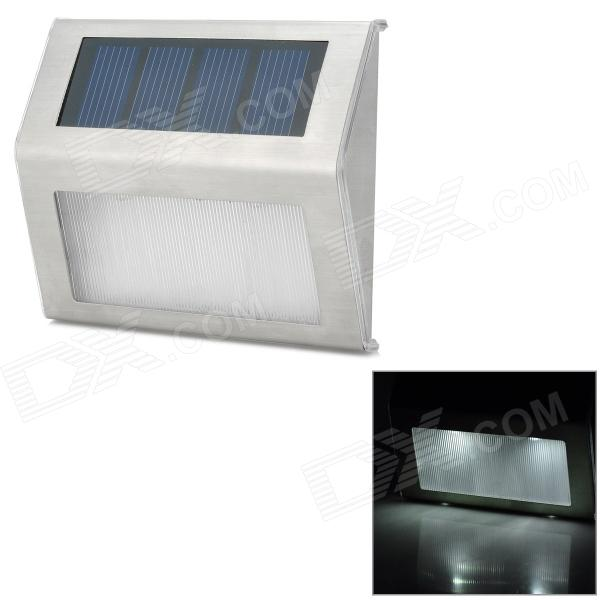 0.5W 70LM White Light Stainless Steel Solar Energy Powered  Lamp - Silver