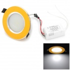 LK-ME4299 7W 700LM 6500K White Light COB LED Ceiling Lamp - Golden + Black (90~265V)