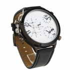 Oulm HP9423 Fashionable Men's Personality Big Dial Men's Quartz Wrist Watch - Black + White (1 x 10)