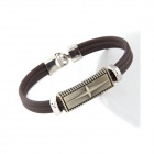 Fashionable Metallic Punk Style Zinc Alloy + Plastic Bracelet - Gray + Silver