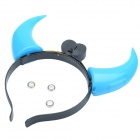 Devil Flashing Horn Style Head Hoop - Black + Blue (3 x AG10)