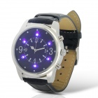 Fashion Men's LED Touch Screen Digital Wrist Watch w/ Money Inspection Function - Black + Silver