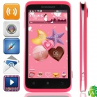 "Lenovo S720 MTK6577 Dual-Core Android 4.0.4 WCDMA Bar Phone w/ 4.5"" IPS, GPS - Black + Deep Pink"