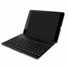 F4 Super Thin Aluminum Alloy Backlit Wireless Bluetooth V3.0 78-Key Keyboard for Ipad AIR - Black