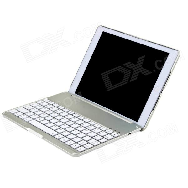 F4 Super Thin Aluminum Alloy Backlit Wireless Bluetooth V3.0 78-key Keyboard for Ipad AIR - Silver