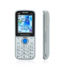 "SHOUYUE V66 GSM Bluetooth V2.0 Bar Phone w/ 1.8"" Screen, Dual SIM, Metal Body - White"