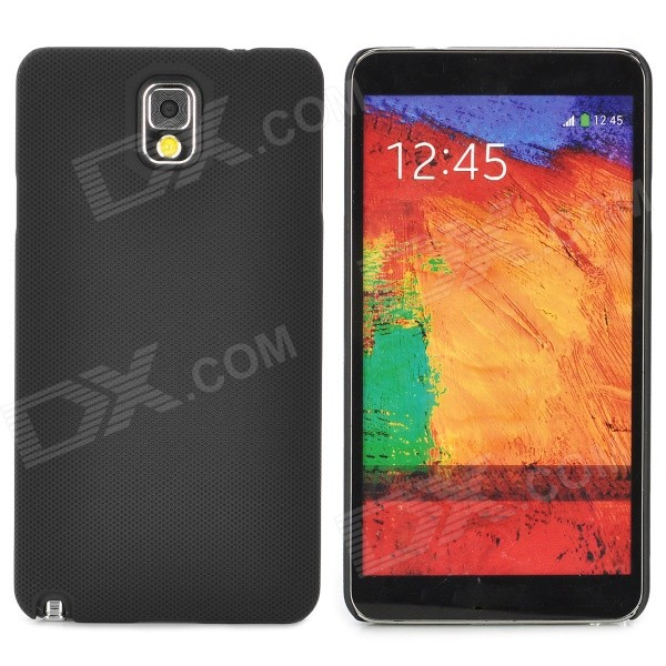 Lichee Pattern Protective ABS Back Case for Samsung Galaxy Note 3 N9000 - Black cm001 3d skeleton pattern protective plastic back case for samsung galaxy s4
