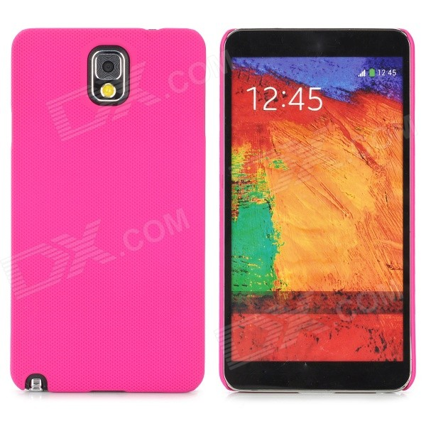 Lichee Pattern Protective ABS Back Case for Samsung Galaxy Note 3 N9000 - Deep Pink stylish bubble pattern protective silicone abs back case front frame case for iphone 4 4s
