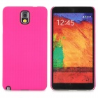 Lichee Pattern Protective ABS Back Case for Samsung Galaxy Note 3 N9000 - Deep Pink