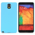Lichee Pattern Protective ABS Back Case for Samsung Galaxy Note 3 N9000 - Blue