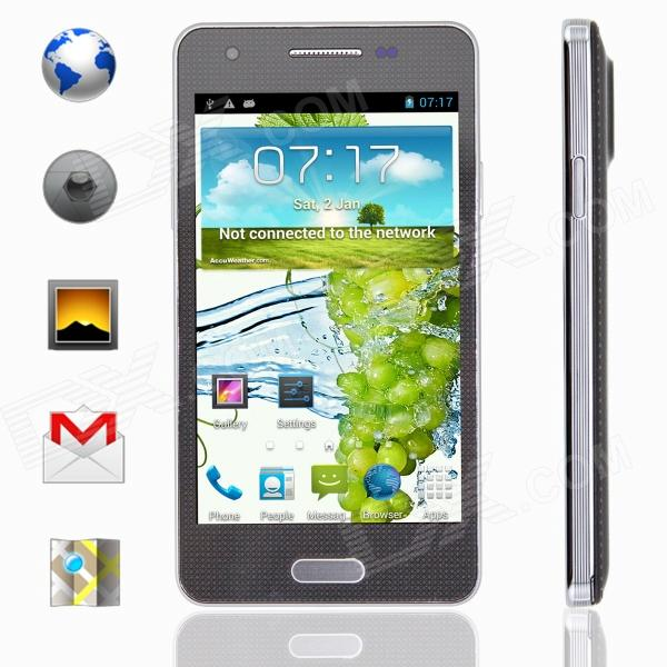 "KICCY MINI NOTE 3 MTK6582 Quad-Core Android 4.2 WCDMA Bar Phone w/ 4.3"" IPS, Wi-Fi, ROM 4GB - Black"