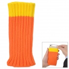 Protective Woolen Yarn Bag for Iphone 5 / 5s / Samsung i9300 - Yellow + Orange