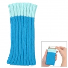 Protective Woolen Yarn Bag for iPhone 5 / 5s / Samsung i9300 - Deep Blue