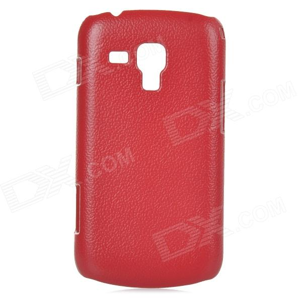 Lichee Pattern Protective ABS Plastic Case for Samsung Galaxy Trend Duos S7562 / S7560 - Red