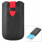 Stylish Protective PU Leather Pouch Bag for Samsung S4 / i9300 - Black + Red