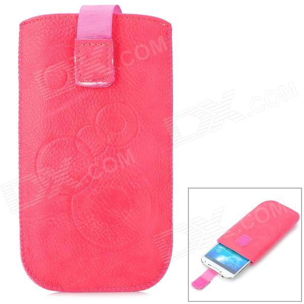 Stylish Protective PU Leather Pouch Bag for Samsung S4 / i9300 - Pink