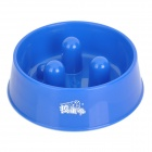 Round Plastic Bowl for Pet Dog Cat - Blue