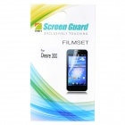 Protective PET Screen Protector w/ Cleaning Cloth for HTC Desire 300 - Transparent