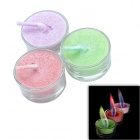 BOAI Colored Flame Candles in Glass Holder - Red + Purple + Green (3 PCS)