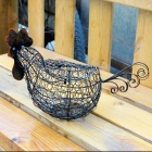 Creative Country style Iron Processing Egg Basket / Decorative Furnishing for Home Supplies - Black