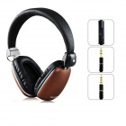 YONGLE High Quality On-ear Headphones w/ Microphone - Black (3.5mm Plug / 120cm-Cable)