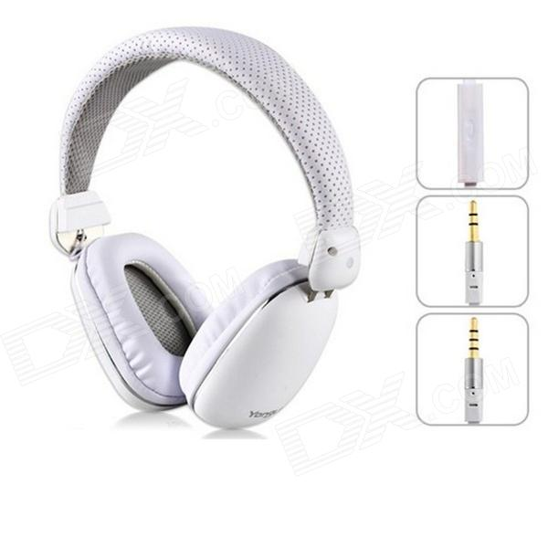 YONGLE de alta calidad en los auriculares con micrófono - Blanco (3.5mm Plug / 120cm-Cable)
