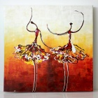 Iarts DX (0102-05) Abstract Dancing Gril Oil Painting - Multicolored