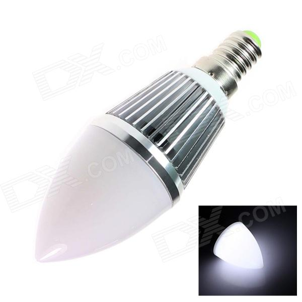 E14 4W 220lm 5500K 9 x SMD 5630 LED White Light Candle Bulb - (AC 85~256V) e14 4w 160lm 6500k 16 smd 3528 led white light candle bulb ac 85 256v
