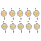 1W 100lm 3200K LED Warm White Light Lamp Bead - Orange + White (3.2~3.4V / 10 PCS)