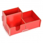 Multifunction Wooden Combination Storage Box - Red