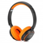 Stereo Bluetooth V3.0 Headband Earphone w/ TF / FM / Microphone - Black + Orange